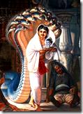 [Vasudeva with Krishna]
