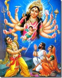 [Kamsa and Durga]