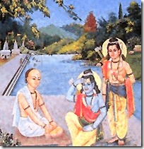 [Lakshmana and Rama meeting Tulsidas]