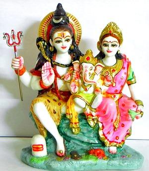[Shiva and family]