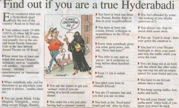 Are you true hyderabadi