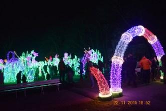 Gaismas festivāls pils parkā.