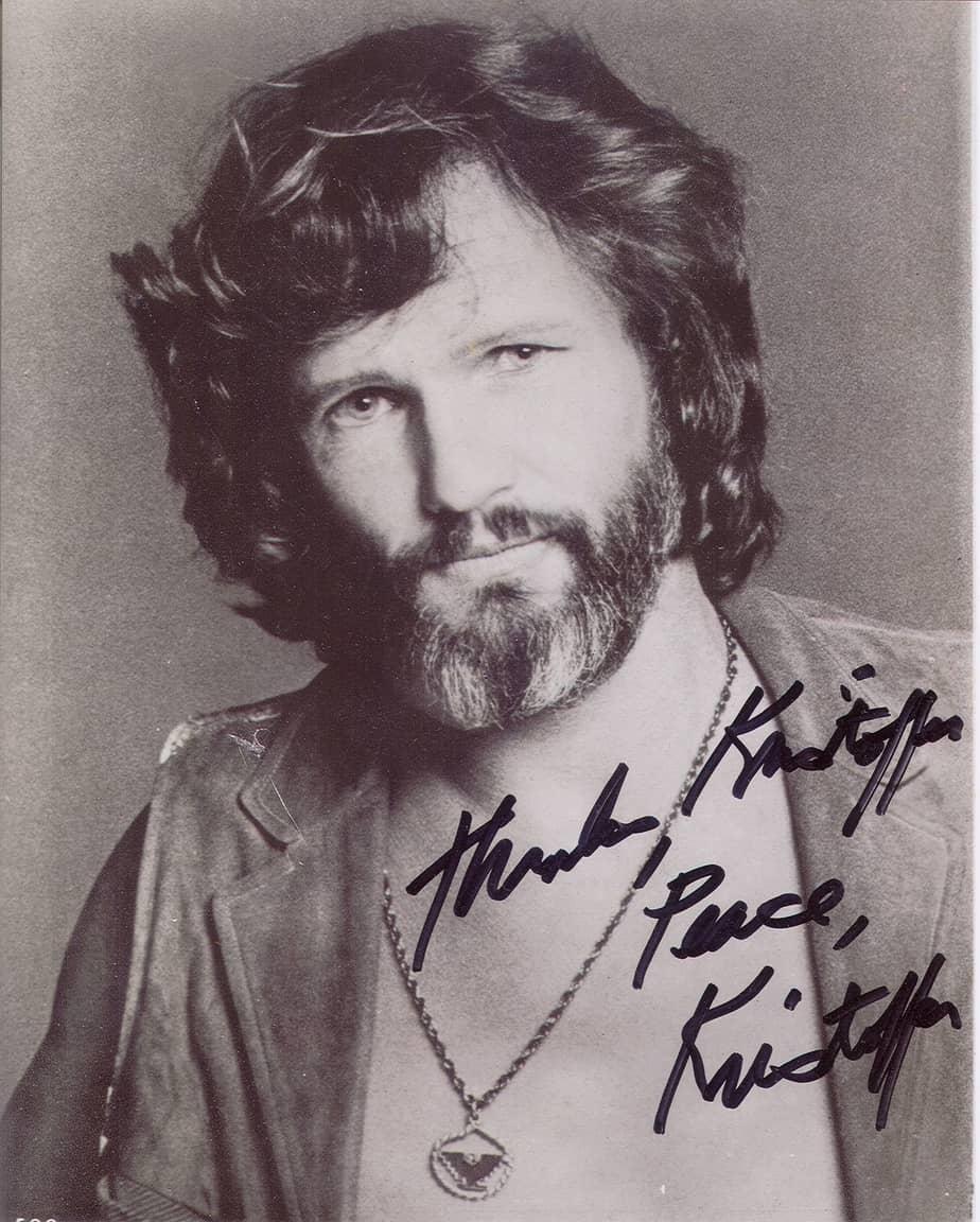 Kristofferson FanMail John Autograph