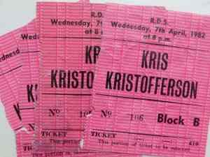 Kris Kristofferson, Ireland (Dublin) 1982