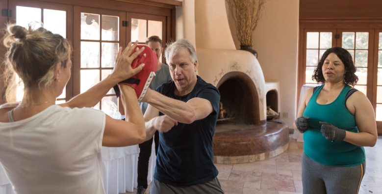 Karate sparring class with Steve Broback and Zoe Bell