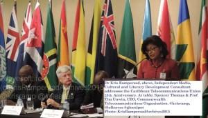 Dr Kris Rampersad address anniversary of Caribbean Telecommunications Union