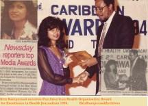 KrisRampersadreceives PAHO Media Award