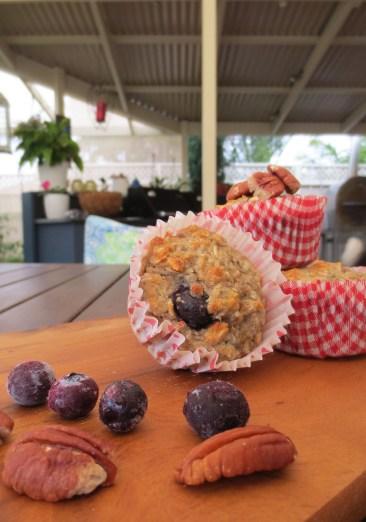 blueberry banana skinny muffins 2