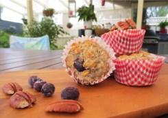 skinny banana blueberry muffins 1