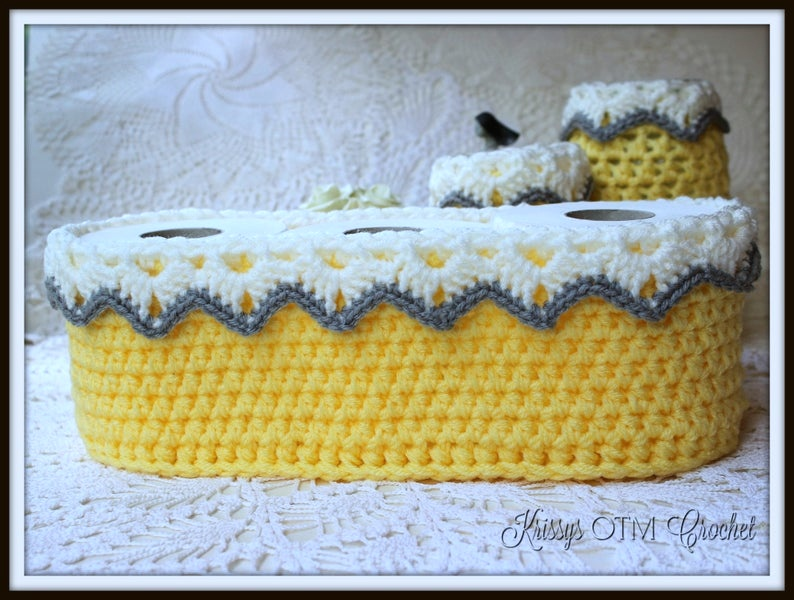 Side view of Lace Basket with Drop Over Lace