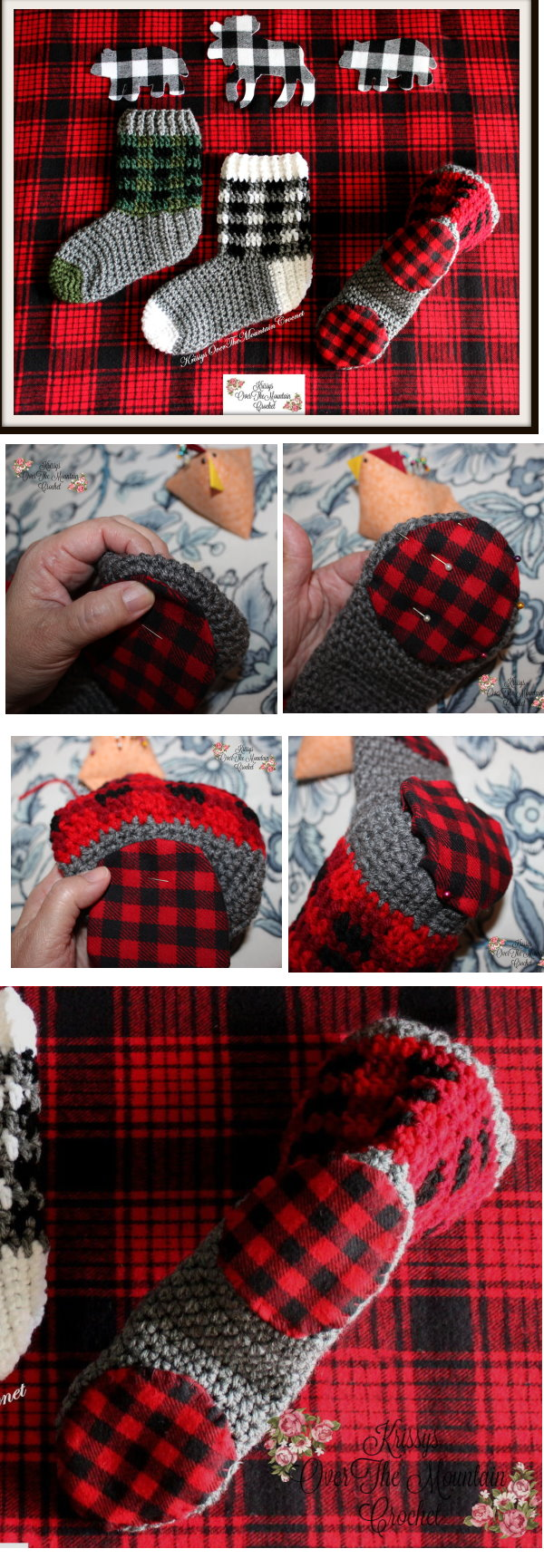 plaid boot cuffs
