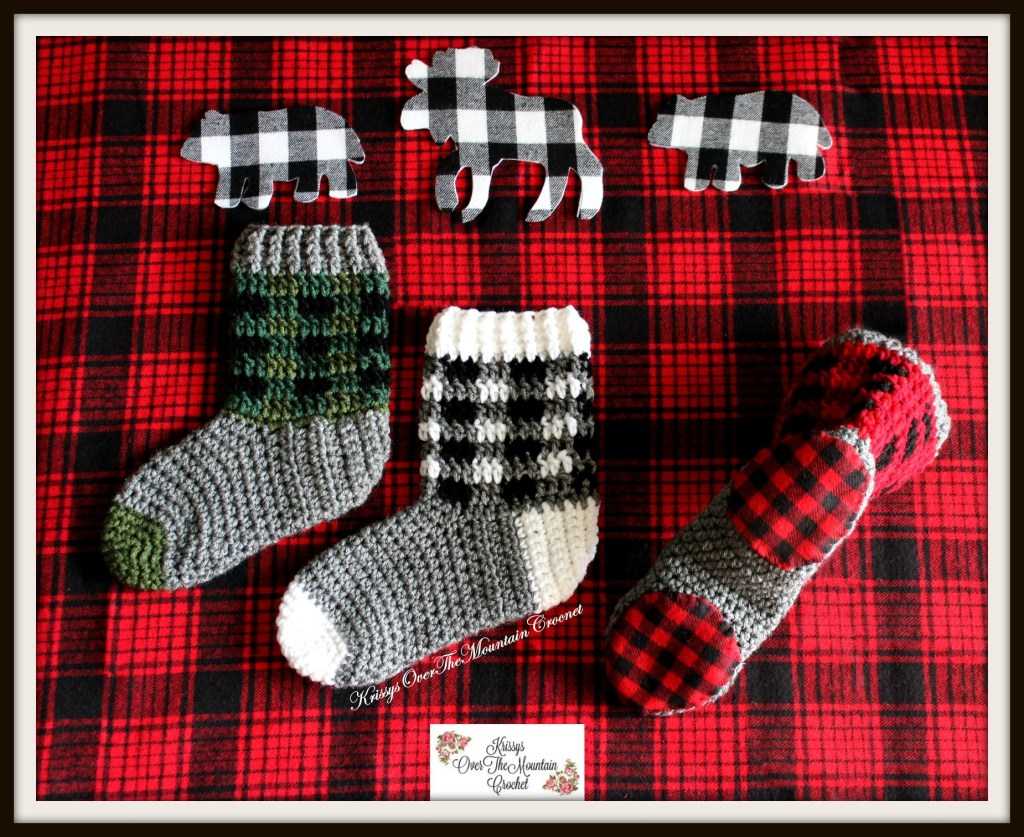 Plaid Boot Socks