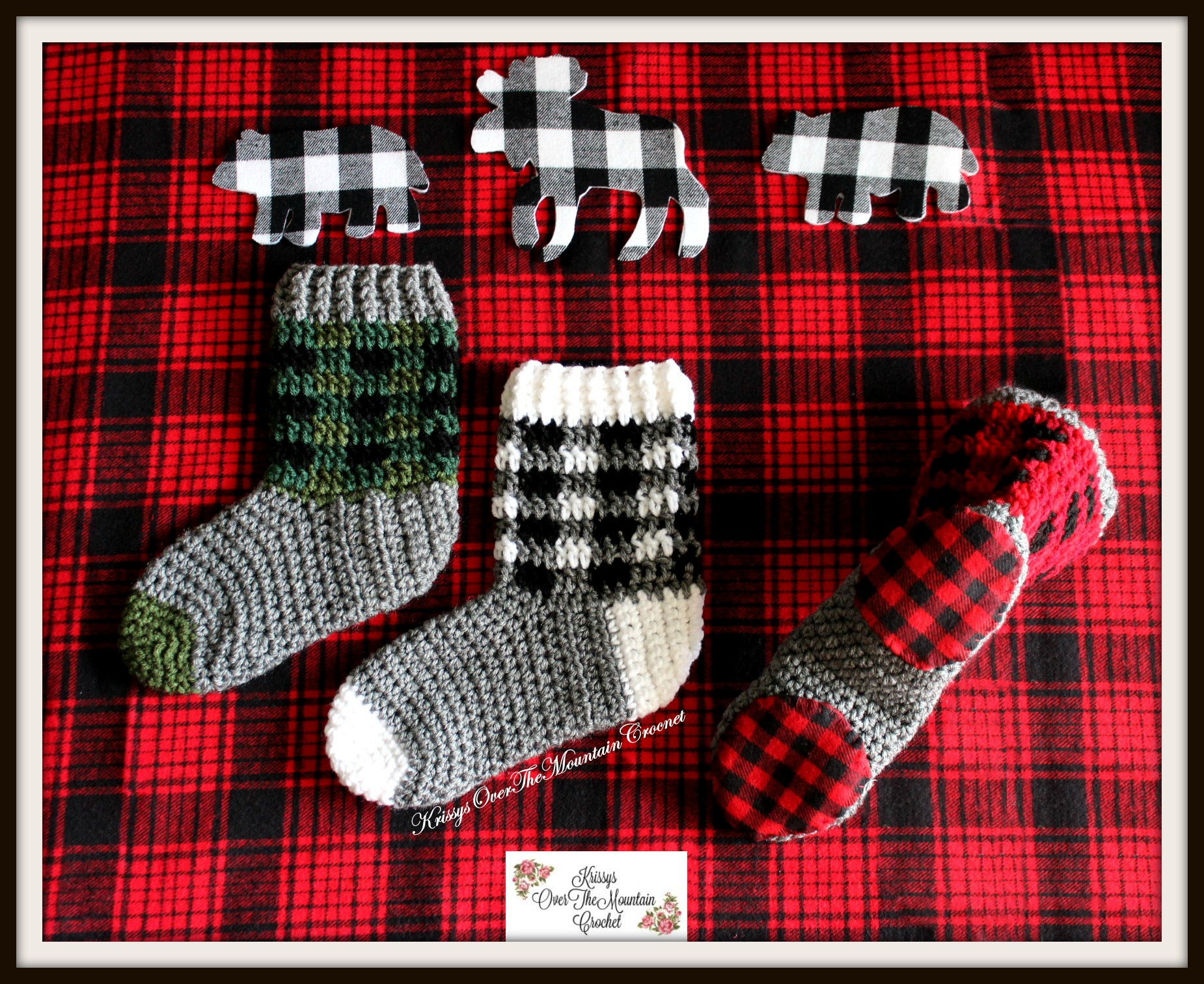 Plaid Boot Socks