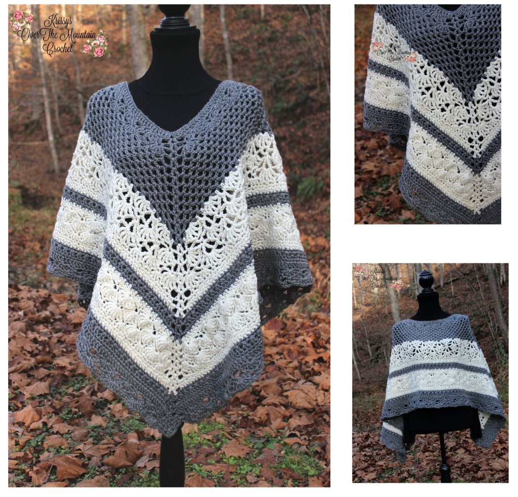 Over Brook Poncho Crochet Pattern