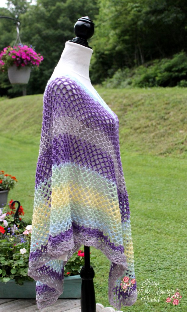 Mesh Over Brook Poncho