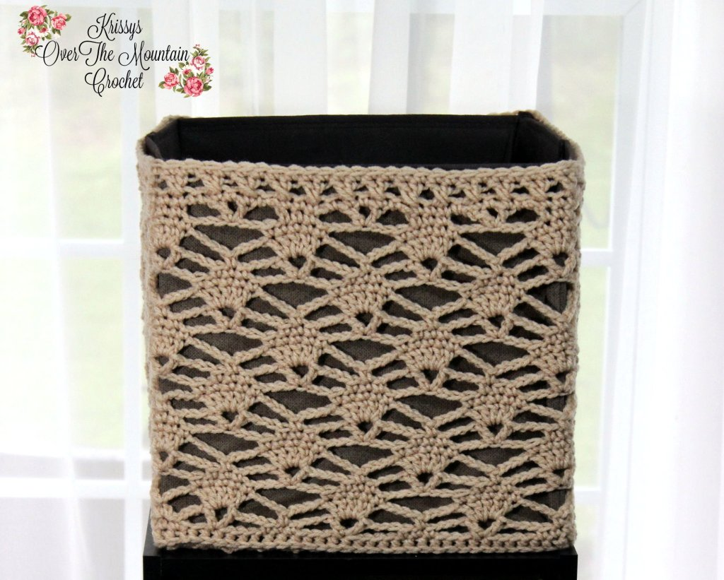 How To Make A Candle Light Lace Cube Cover - Crochet Pattern