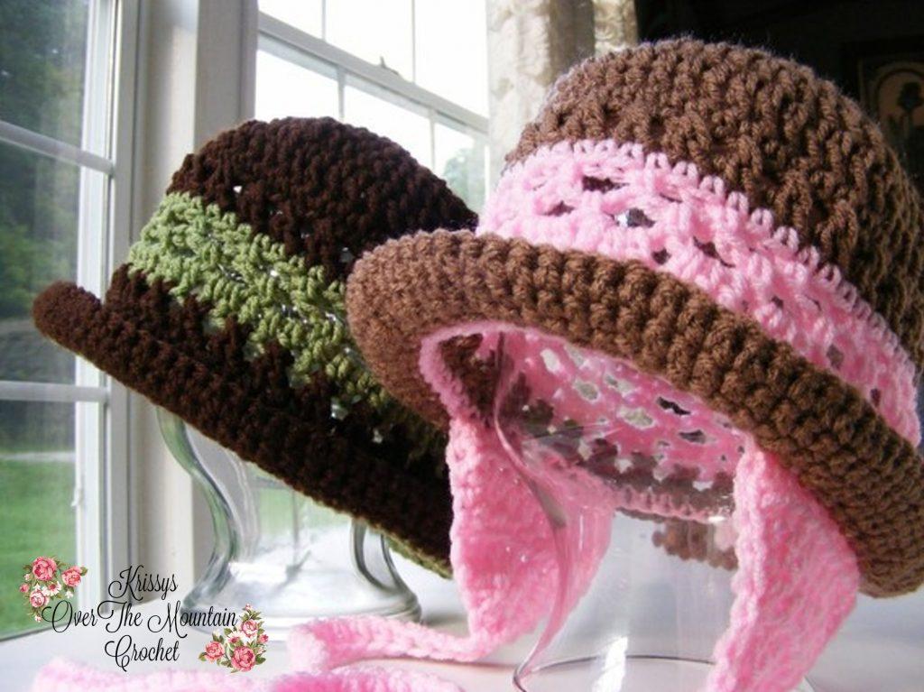 Earflap Hat With Rolled Brim - Toddler Child's Women's Crochet Winter Headgear