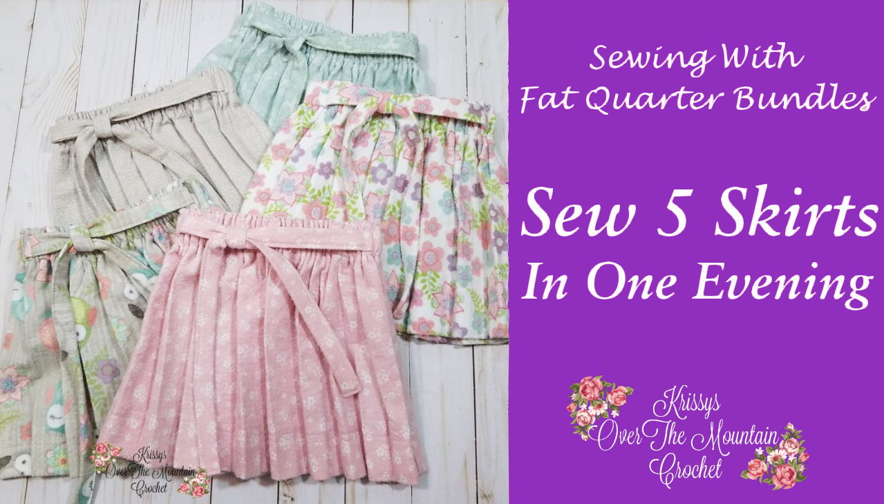 It's easy to sew 5 skirts in one evening, using an assembly line method. This is a great DIY