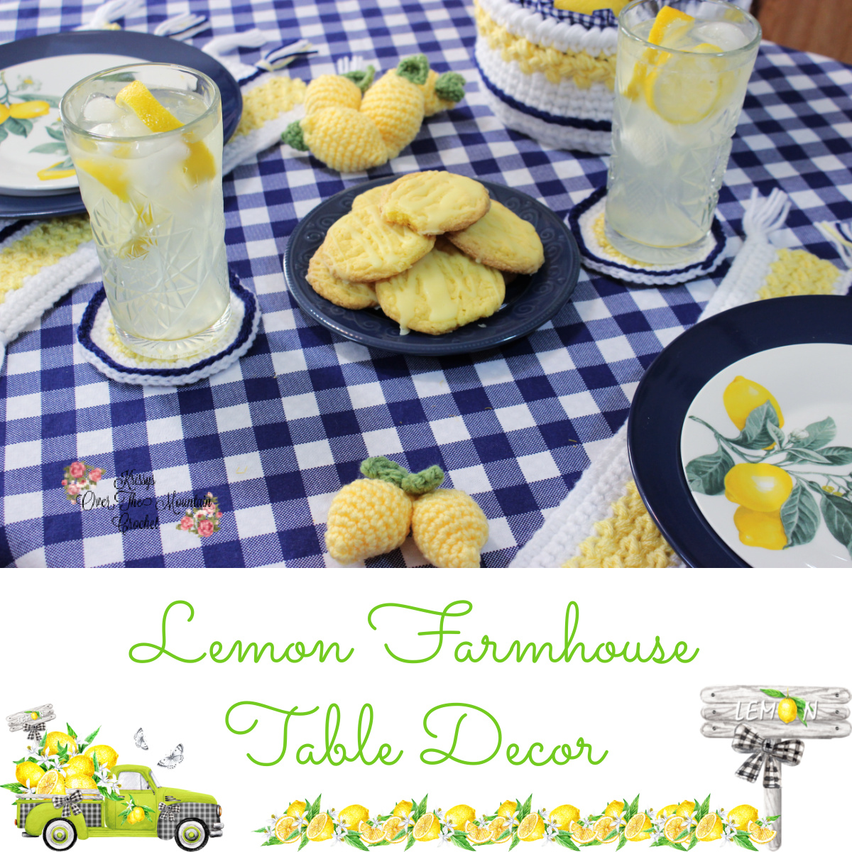 Lovely Lemons used to help decorate this summer table.
