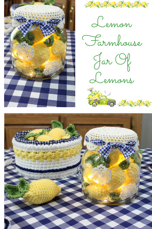 A mason jar of lemons is so much fun to create!