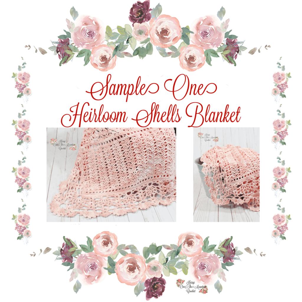 Sample 1 Heirloom Shells Baby Blanket