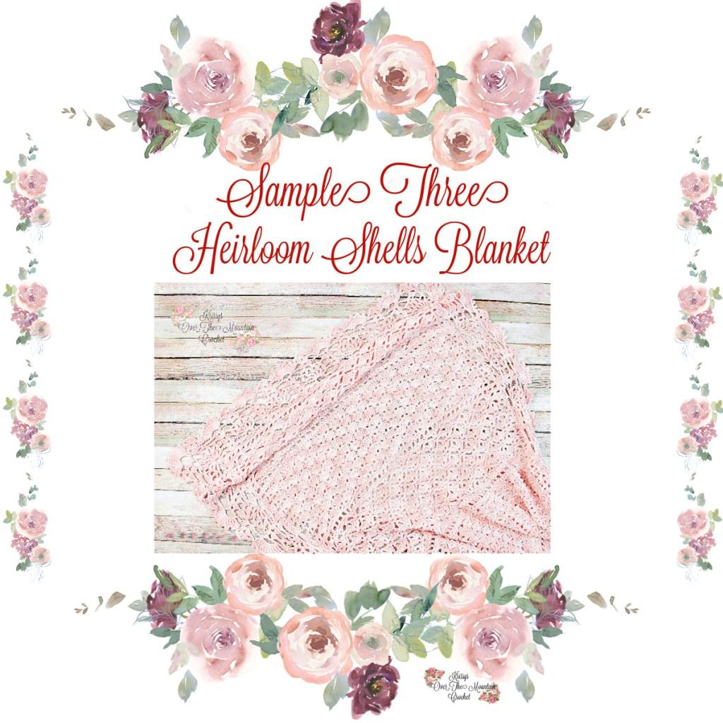 Sample 3 of Heirloom Shells Sampler Baby Blanket