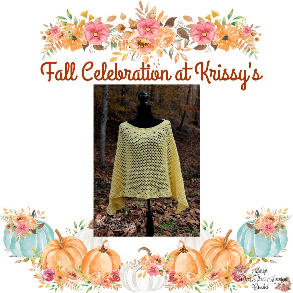 Fall Mesh Poncho - Fall Celebration At Krissy's