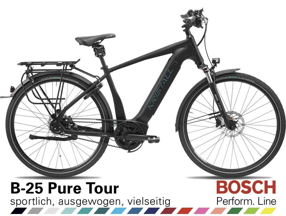 Auswahl KRISTALL B-25 Pure Tour, Herren Geometrie, mit BOSCH Performance Line