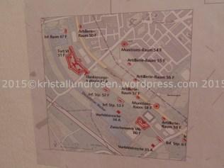 Ausschnitt aus dem Plan der Forts