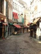 Rue des Bouchers am Morgen