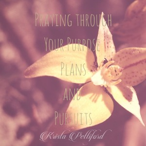 Praying Through Your Purpose, Plans and Pursuits
