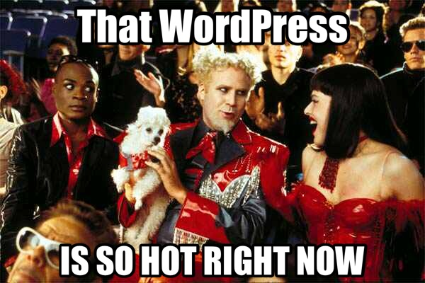 That WordPress is so hot right now!
