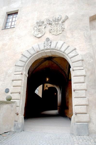 Stone-work around tunnel entrance