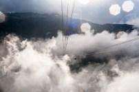 Gondolas in the clouds