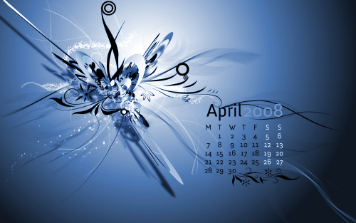 April wallpaper callendar