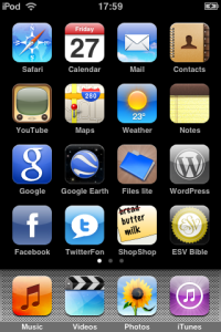 iPod home