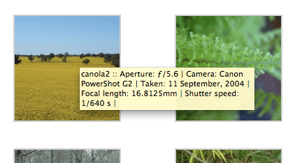 Add EXIF to WordPress gallery image titles