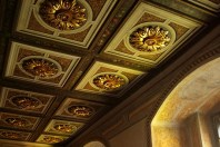 Carved wooden ceilings, embellished with gold