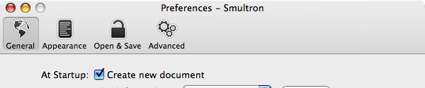 Smultron New Preferences Icons