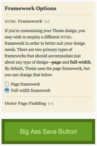 Thesis Full Width Framework