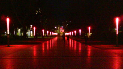 """UNSW Pink for October """"Global Illumination"""""""
