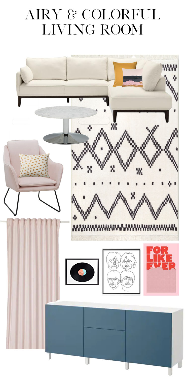 Living Room: One Room Challenge - week 1 #moodboard #livingroom