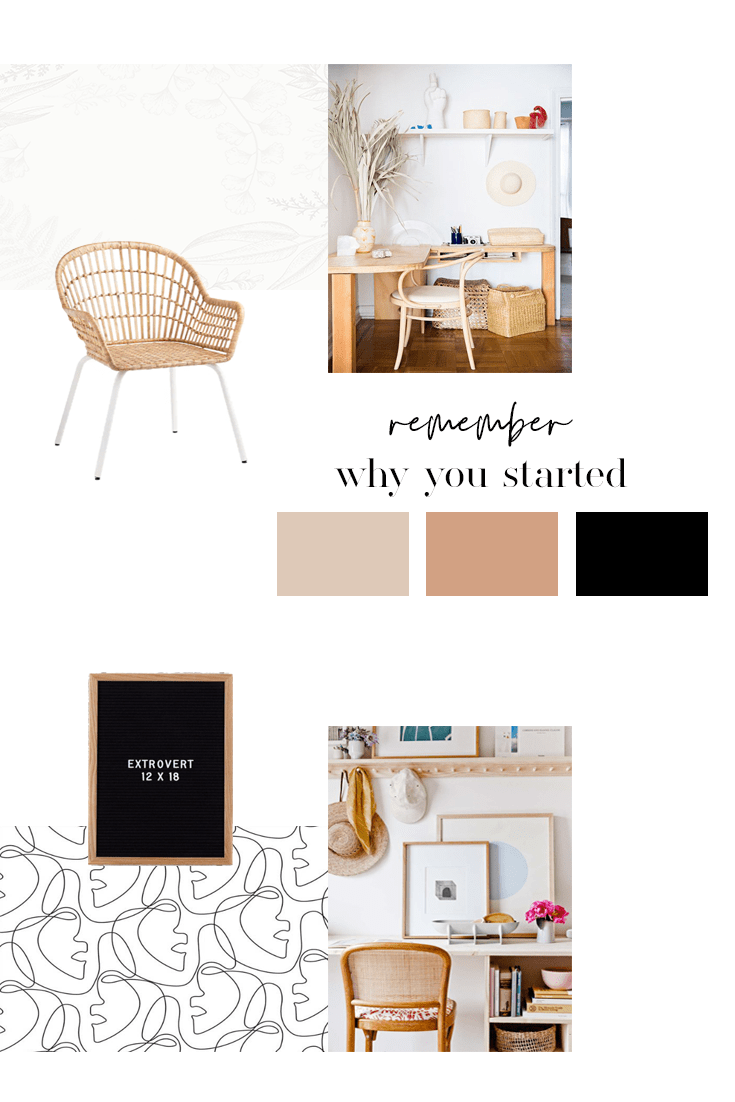 Sharing our Scandinavian Home Office mood board, design plans and before photos for week 1 of the One Room Challenge Fall 2019! #oneroomchallenge #scandinavianhomeoffice #scandinavianhomedecor