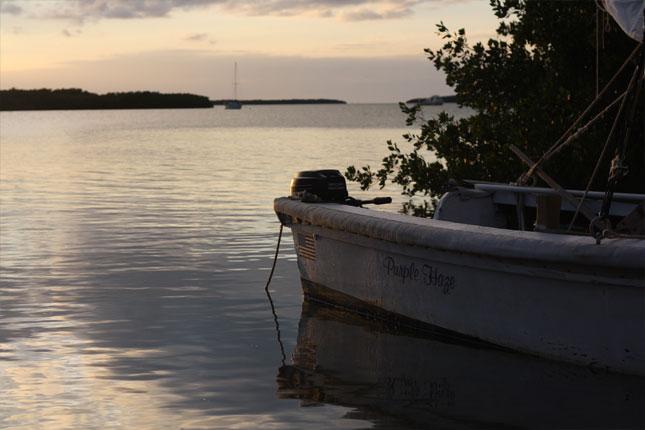 Purple Haze and Sunset Over the Keys
