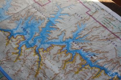 Lake Powel: Map