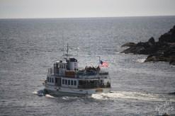 Monhegan Island: Ferry Departing the Island