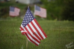 Monhegan Island: Flags in the Cemetary for Memorial Day