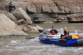 San Juan River: Mary & Tom at Government Rapid