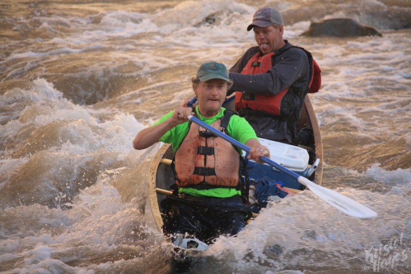 San Juan River: Rich & John Navigating Government Rapid