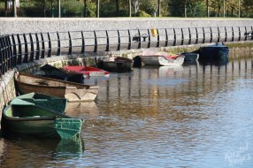 Boats Tied Up In Carlow-River Barrow, Ireland
